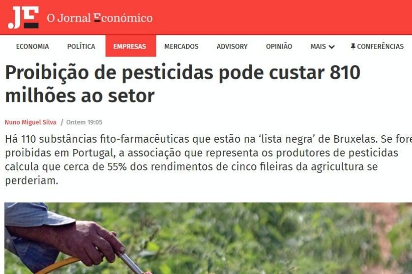 António Lopes Dias destaca erros e perigos da proibição do glifosato na agricultura europeia.